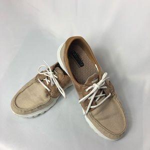 GoGo Mat walking shoes - tans and browns